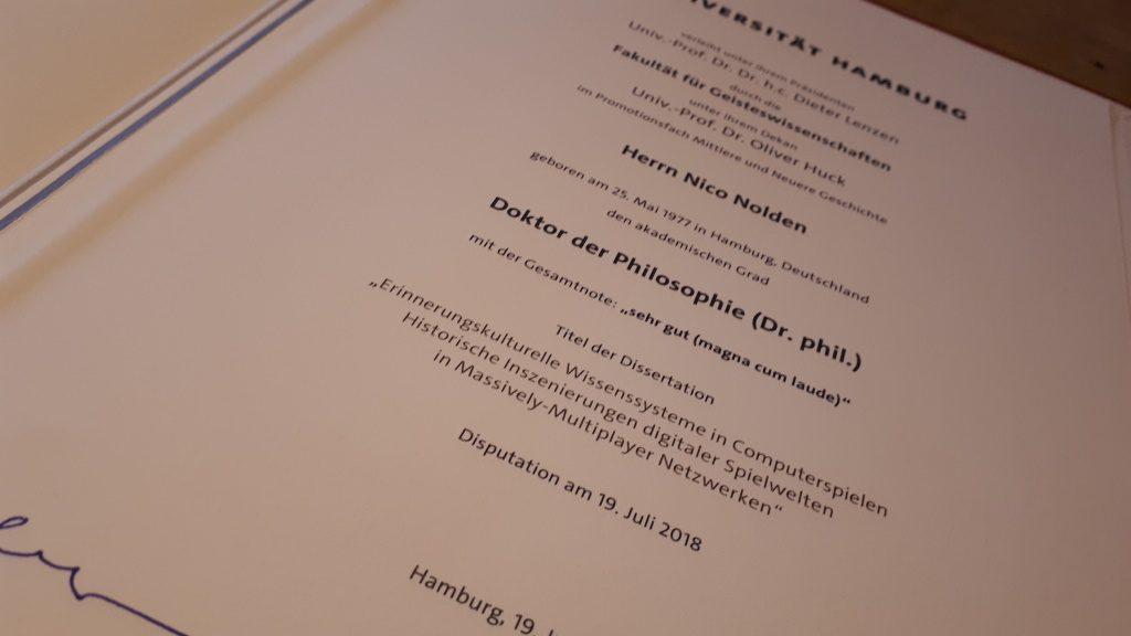 Promotion Nolden Urkunde Text